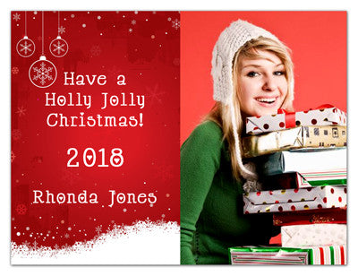 Christmas Photo Magnets | Holly Jolly | MAGNETQUEEN