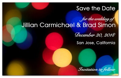 Christmas Wedding Save the Date Magnets | Winter Lights