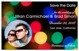 Save the Date Magnets | Winter Lights Photo | MAGNETQUEEN