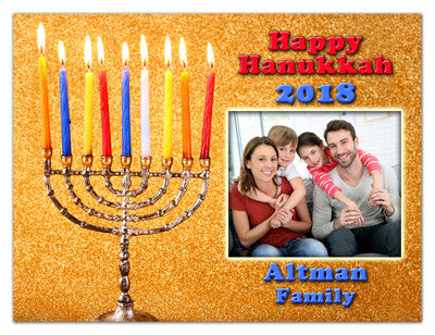 Hanukkah Photo Magnets | Hanukkah Menorah | MAGNETQUEEN