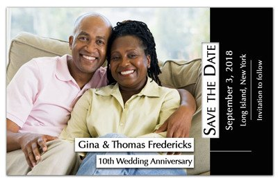 Photo Anniversary Magnets | <br>Horizontal Color Photo