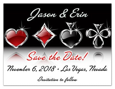 Vegas Save the Date Magnet Invite | Card Symbol | MAGNETQUEEN