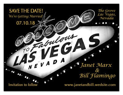 Vegas Wedding Magnets | Night Marquee