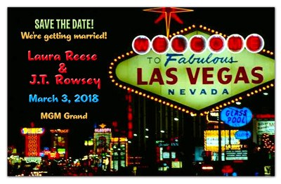 Las Vegas Save The Date | Neon - MAGNETQUEEN
