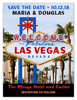 Las Vegas Save the Date Magnet | Vegas Sign | MAGNETQUEEN