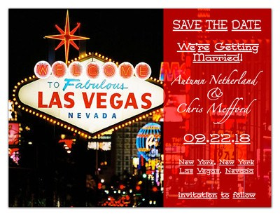Las Vegas Save the Date Ideas | Transparency