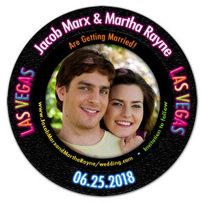 Casino Photo Chip Save The Date Magnets | MAGNETQUEEN