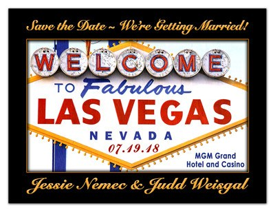 Las Vegas Save the Date | Welcome Sign | MAGNETQUEEN