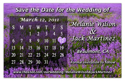 Calendar Save the Date Magnets | Lavender Field | MAGNETQUEEN