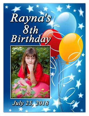 Birthday photo magnets magnetqueen magnet birthday party favors stars and balloons filmwisefo