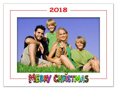 Personalized Holiday Photo Magnets | White Christmas