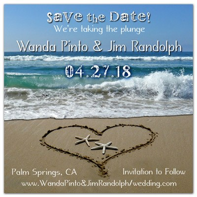 Save the Date Wedding Magnets | Starfish In A Heart | MAGNETQUEEN