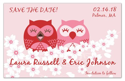 Cute Save the Date Magnets | Owls in Love | MAGNETQUEEN
