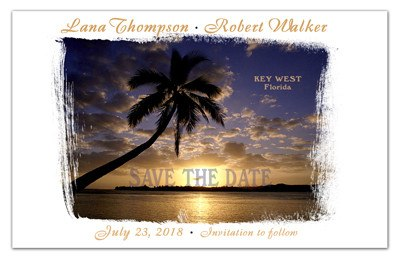 Tropical Save the Date Magnets | Palm Tree Glow