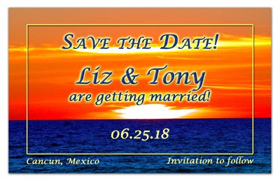 Beach Save the Date Magnets | Sunset Swim Focus | MAGNETQUEEN