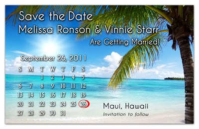 Wedding Beach Calendar Magnet | Swaying Palm | MAGNETQUEEN