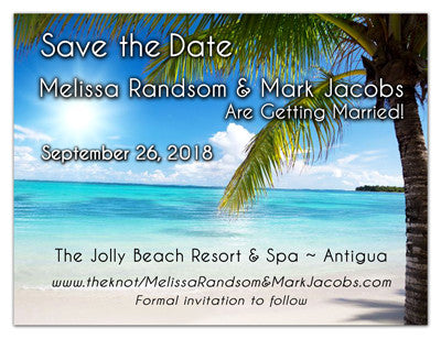 Tropical Wedding Save The Date Magnets | Palms in the Breeze