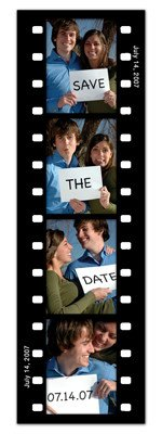 Save the Date Photo Booth Magnets |<br> Fun Frame Black