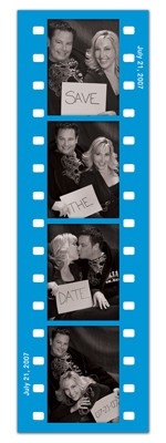 Save the Date Photo Booth Magnets |<br> Fun Frame Blue