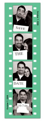 Save the Date Photo Booth Magnets |<br> Fun Frame Green