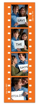 Save the Date Photo Booth Magnets |<br> Fun Frame Orange