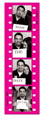 Save the Date Photo Booth Magnets |<br> Fun Frame Pink
