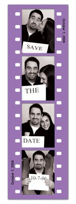 Save the Date Photo Booth Magnets |<br> Fun Frame Purple