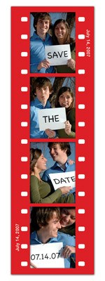 Save the Date Photo Booth Magnets |<br> Fun Frame Red