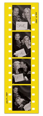 Save the Date Photo Booth Magnets |<br> Fun Frame Yellow