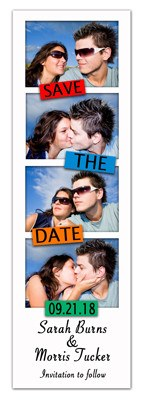 Save the Date Photo Strip Magnets | Mondrian