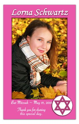 Bat Mitzvah Photo Magnets | <br>Star of David - MAGNETQUEEN