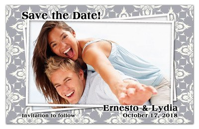 Save the Date Magnets | Photo on Photo | MAGNETQUEEN