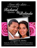 Save The Date | Photo on Pink Roses Black | MAGNETQUEEN