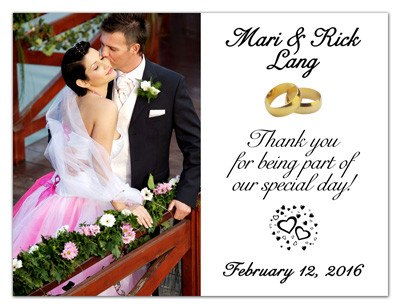 Thank You Photo Magnets | Wedding Thanks