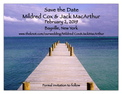 Beach Wedding Save The Dates | Pier on The Beach | MAGNETQUEEN
