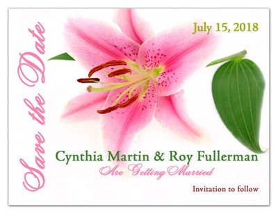 Flower Save the Date Magnets | Pink Lilly | MAGNETQUEEN