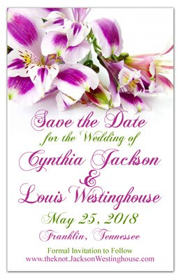 Save the Date Magnets | Purple Alstroemeria | MAGNETQUEEN