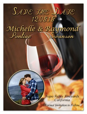 Red Wine Save the Date | Red Wine Photo | MAGNETQUEEN