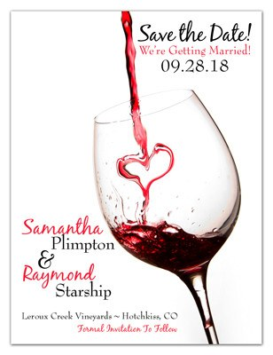 Winery Save the Date Magnets | Red Wine Heart | MAGNETQUEEN