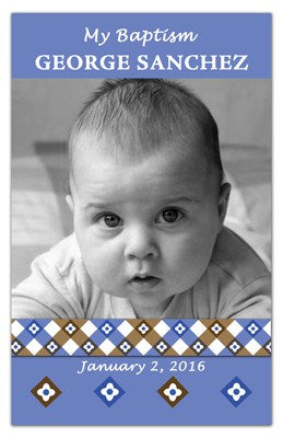 Baptism Photo Favors | Retro Boy | MAGNETQUEEN