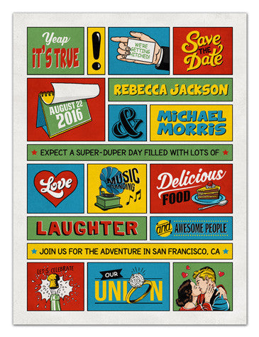 Retro Save The Date Magnets | In A Word | MAGNETQUEEN