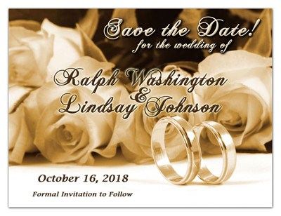 Save the Date Magnets | Rings and Roses in Sepia | MAGNETQUEEN