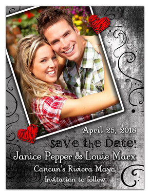 Save The Date Magnets | Red Hearts | MAGNETQUEEN