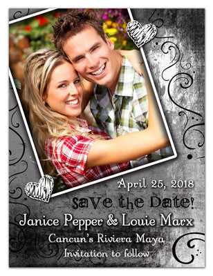 Save The Date Magnets | White Hearts | MAGNETQUEEN