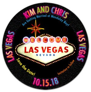 Las Vegas Save the Date Magnet | Casino Chip | MAGNETQUEEN