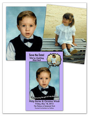 Photo Save The Date Magnet Design Sample