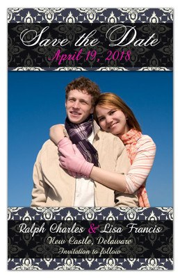 Save the Date Magnet | Texture with Photo | MAGNETQUEEN