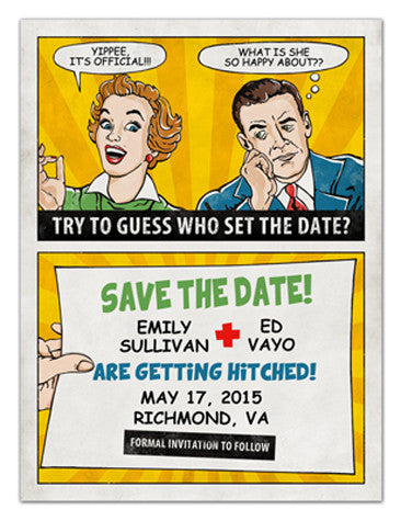 Art Deco Save the Date Magnets | Funny | MAGNETQUEEN