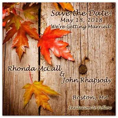 Save the Date Magnets Leaves | <br>Barnyard Leaves