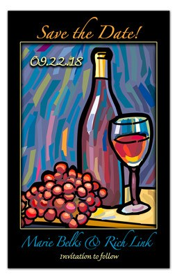 Save The Date Wine Magnets | Painted Grapes | MAGNETQUEEN